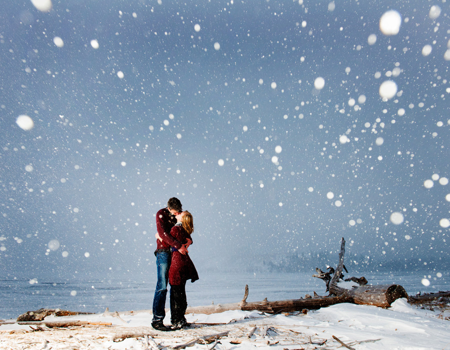 Waterton engagement, waterton national park photographer, snow, winter engagement, best lethbridge photographer