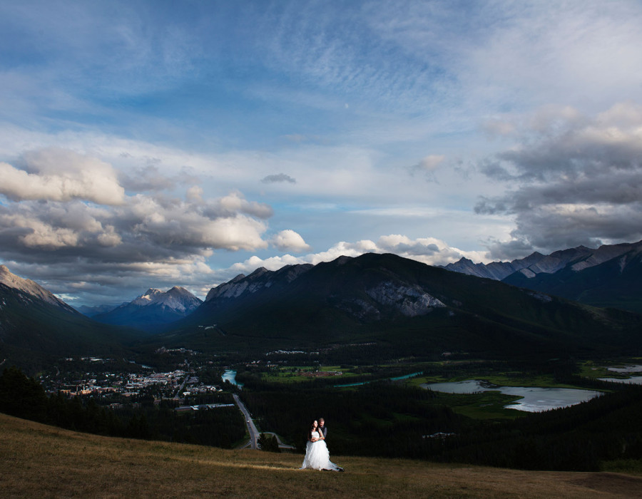 RedTree Photography, Banff wedding photography, banff wedding photographer, best banff photographer, dramatic, artistic, lake minawanka, sulphur mountain.